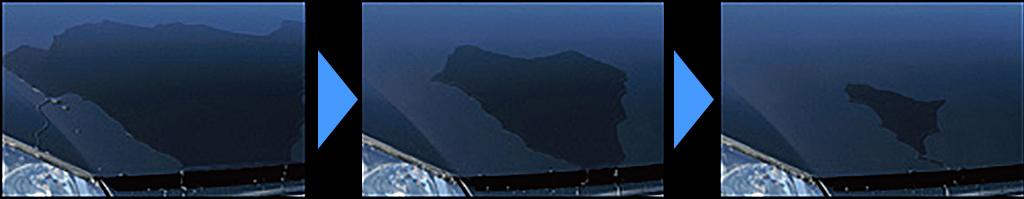 水引き性能実証テスト写真
