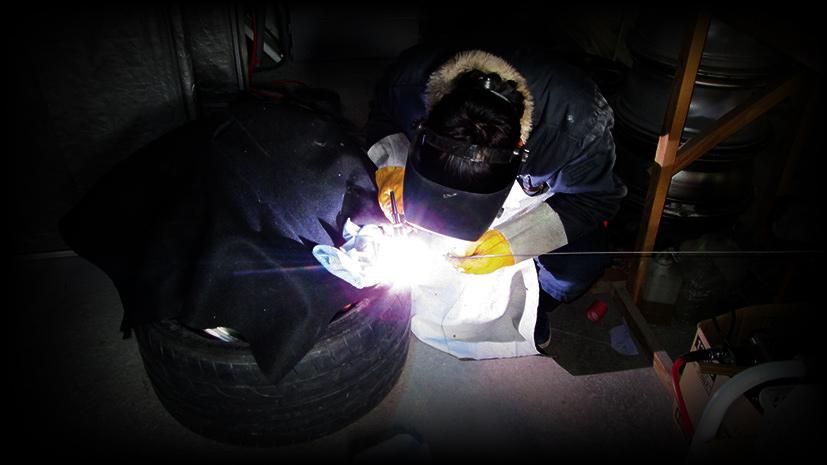 クラック溶接修理写真